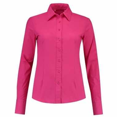 Gekleurd dames overhemd met lange mouwen