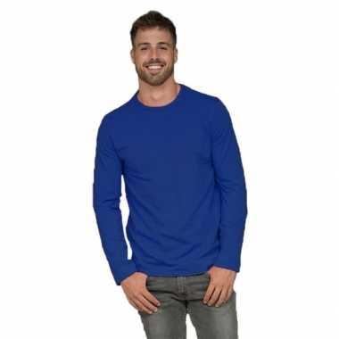 Lange mouwen shirt kobalt voor heren