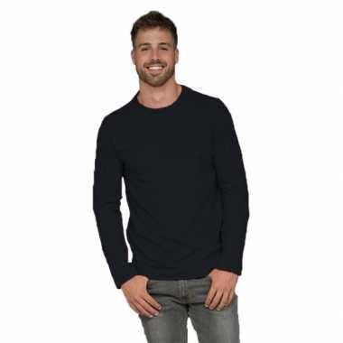 Lange mouwen shirt zwart voor heren