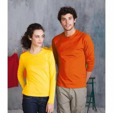 b9a660c7553 Oranje shirt met lange mouwen plus | T-shirt-lange-mouwen.nl